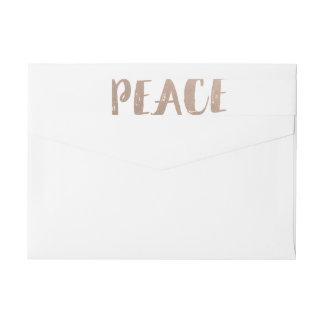 Trendy Peace Wraparound Holiday Labels Wraparound Return Address Label