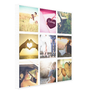 Trendy Personalized photo collage Canvas Print