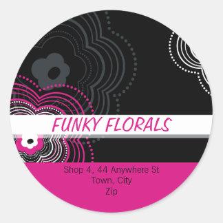 TRENDY PERSONALIZED STICKER :: funky flower 2