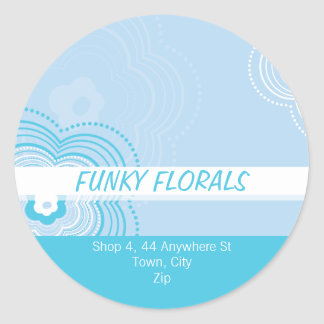 TRENDY PERSONALIZED STICKER :: funky flower 9