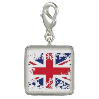 Trendy Photo Charm Bracelet Brittish Flag