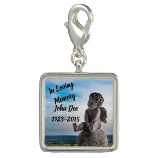 Trendy Photo Charm Bracelet Customizable Memorial