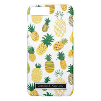 Trendy Pineapple Pattern | Add Your Name iPhone 8 Plus/7 Plus Case