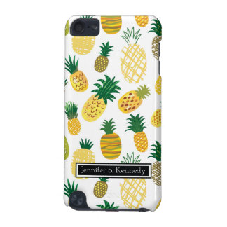 Trendy Pineapple Pattern   Add Your Name iPod Touch (5th Generation) Covers