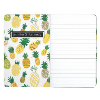 Trendy Pineapple Pattern | Add Your Name Journal