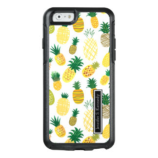 Trendy Pineapple Pattern   Add Your Name OtterBox iPhone 6/6s Case