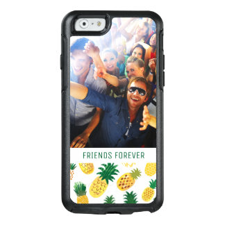 Trendy Pineapple Pattern | Add Your Photo & Text OtterBox iPhone 6/6s Case