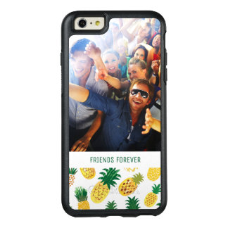 Trendy Pineapple Pattern | Add Your Photo & Text OtterBox iPhone 6/6s Plus Case