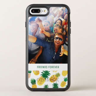 Trendy Pineapple Pattern | Add Your Photo & Text OtterBox Symmetry iPhone 7 Plus Case