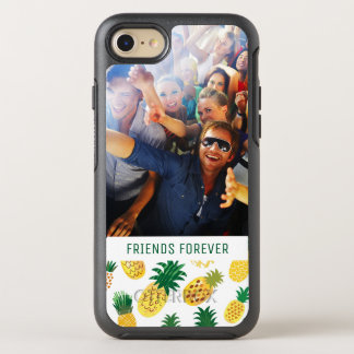 Trendy Pineapple Pattern | Add Your Photo & Text OtterBox Symmetry iPhone 8/7 Case