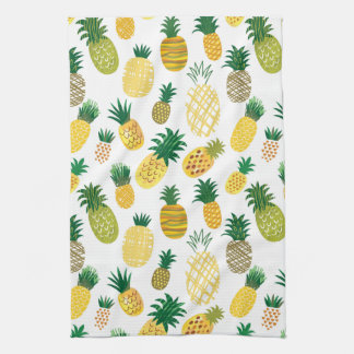 Trendy Pineapple Pattern Tea Towel