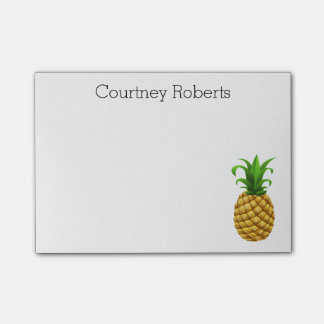 Trendy Pineapple with Your Name Custom Post-it Notes