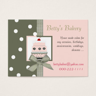 Trendy Pink and Khaki Business Card
