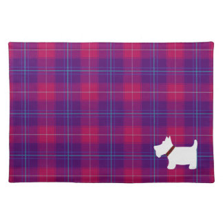 Trendy Pink and Purple Tartan Plaid Placemats