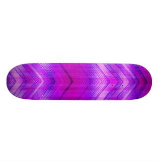 Trendy Pink Blue Girly Zigzag Stripes Pattern Skate Board