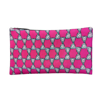 Trendy Pink bow Small Cosmetic Bag