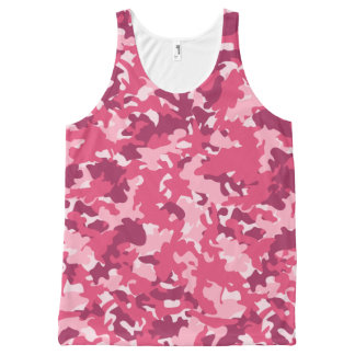 Trendy pink camo All-Over print tank top