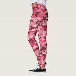 Trendy Pink Camo Leggings