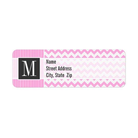 Trendy Pink Chevron Return Address Label