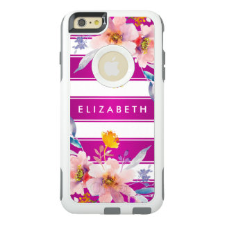Trendy Pink Floral OtterBox iPhone 6/6s Plus Case