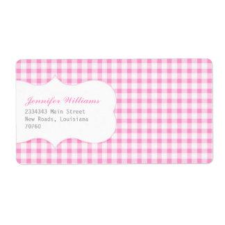 Trendy Pink Gingham