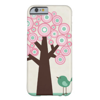 Trendy pink green circles tree bird iPhone 6 case Barely There iPhone 6 Case