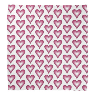 trendy pink hearts Bandana