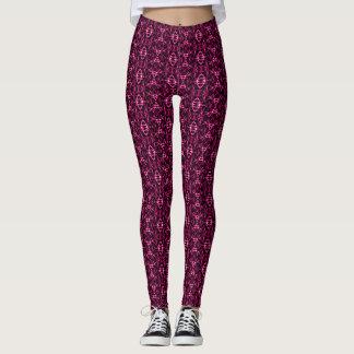 Trendy Pink Poe Mandala Pattern Leggings