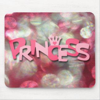 Trendy Pink Princess Bokeh Mousepads