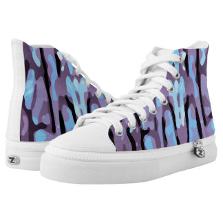 Trendy Pink Purple Blue Abstract Pattern High Tops