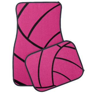 Trendy Pink Volleyball Car Mats