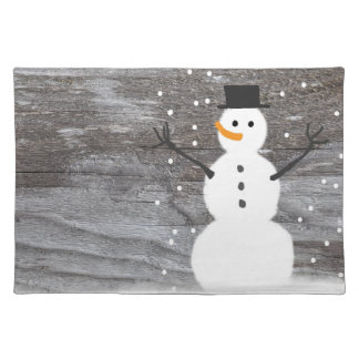 Trendy Placemat rustic Christmas snowman