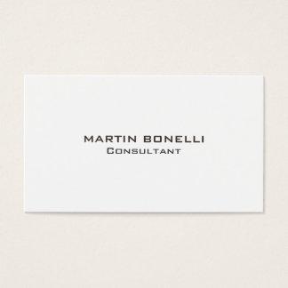 Trendy Plain Clean Simple Business Card