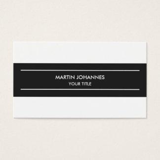 Trendy Plain Simple Grey White Business Card