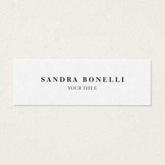 Trendy Plain Slim Professional Minimalist Mini Business Card