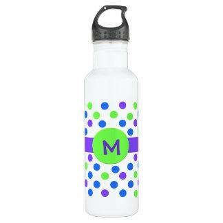 Trendy Polka Dot Monogram Custom 710 Ml Water Bottle