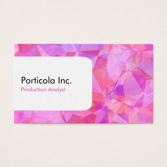 Trendy Polygon Geometric Business Cards