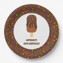 Trendy Popsicle Summer Birthday Party Paper Plate