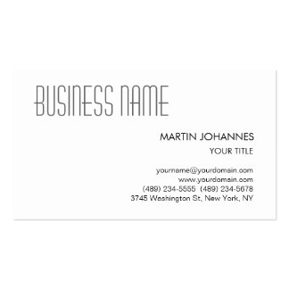 Trendy Professional Black White Business Card
