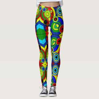 Trendy Psychedelic Rave Party Leggings