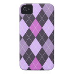 Trendy Purple Argyle Case-Mate iPhone 4 Cases