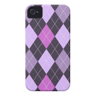 Trendy Purple Argyle iPhone 4 Cover