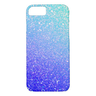 Trendy Purple Glitter Blue Case-Mate iPhone 7 Case