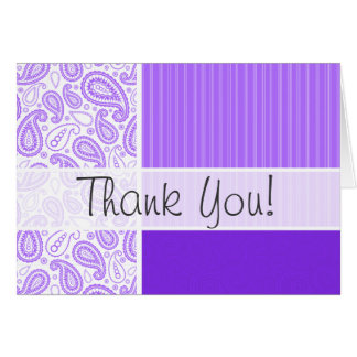 Trendy Purple Paisley Stationery Note Card