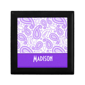 Trendy Purple Paisley Gift Box