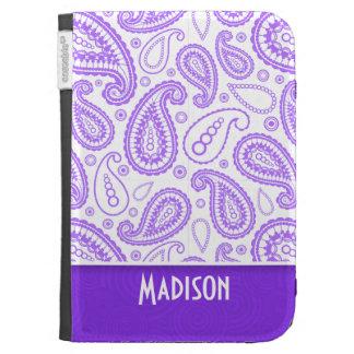 Trendy Purple Paisley Kindle 3G Cases