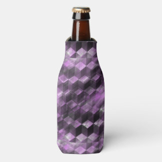 Trendy Purple Pattern Bottle Cooler