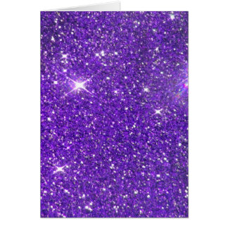 Trendy Purple Sparkling Glitter Glitz Card