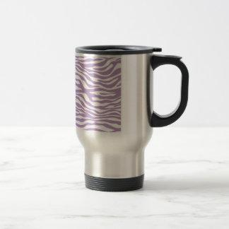 Trendy Purple Zebra Print Pattern Stainless Steel Travel Mug