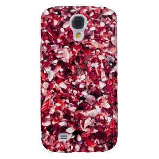 Trendy Red and Pink Painted Pebble Beach Galaxy S4 Case